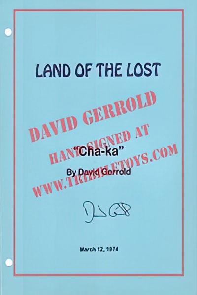 "Land of the Lost ""Cha-ka"" Script"