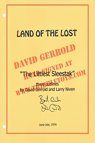 "Land of the Lost ""The Littlest Sleestak"" Script"