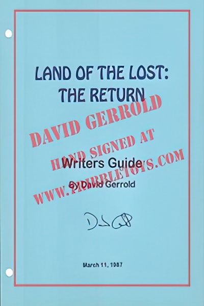 Land of the Lost: The Return Writers Guide