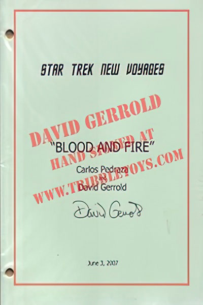 "Star Trek: New Voyages ""Blood and Fire"" Script"