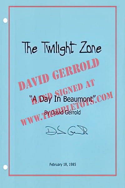 "The Twilight Zone ""A Day in Beaumont"" Script"