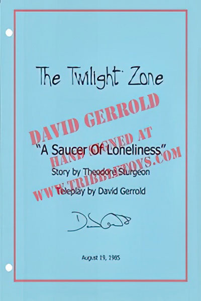 "The Twilight Zone ""A Saucer of Loneliness"" Script"