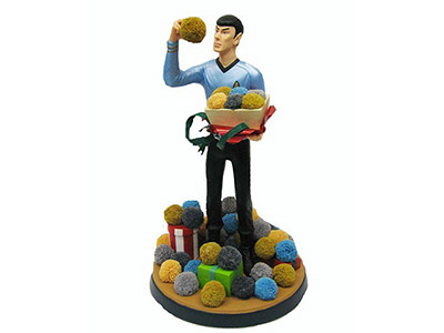 Spock with Tribbles
