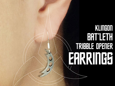 Klingon Bat'leth Earrings